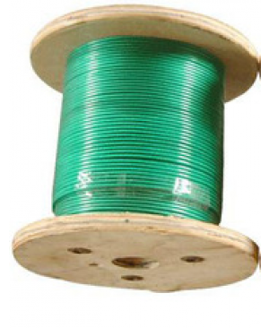 CABLE ACIER ENDUIT PVC  5MM VERT